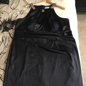 Plus Size Navy Blue Cocktail Dress